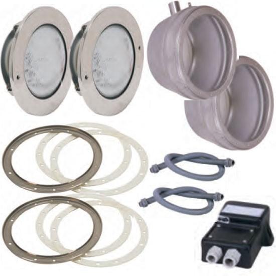Edelstahl-LED-Weiß-Scheinwerfer-Set 2