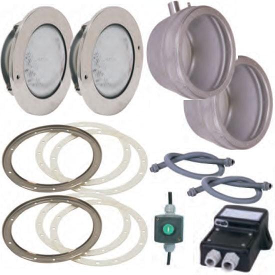 Edelstahl-LED-RGB-Scheinwerfer-Set 2