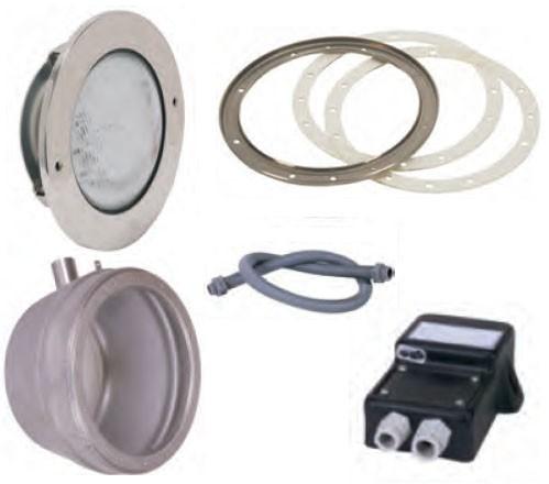 Edelstahl-LED-Weiß-Scheinwerfer-Set 1