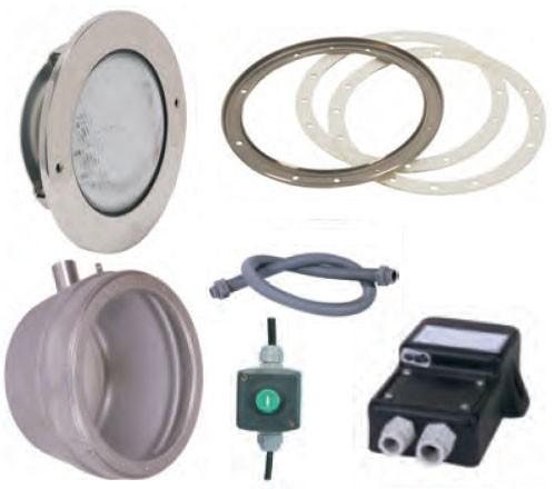 Edelstahl-LED-RGB-Scheinwerfer-Set 1